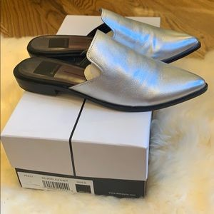 Dolce Vita Silver Leather Mules